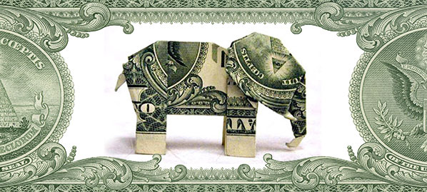 How to Fold Paper Money to Look Like an Elephant | Dollar origami ... | 269x598